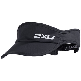 """2XU Run Visor Black/Black"""